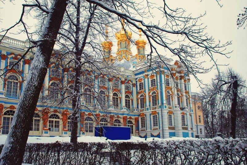 Catherine Palace en invierno, St Petersburg imágenes de archivo libres de regalías