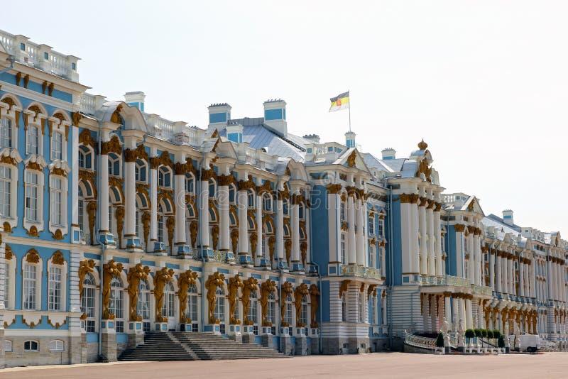 Catherine Palace en Pushkin (región de Leningrad) en Pushkin, R fotos de archivo