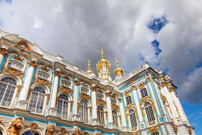 Catherine Palace en St Petersburg fotografía de archivo