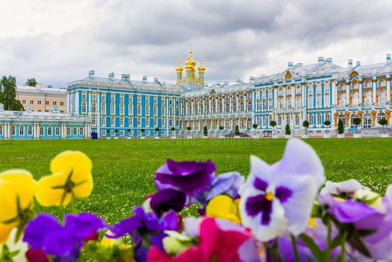 Catherine Palace i Tsarskoye Selo arkivfoton