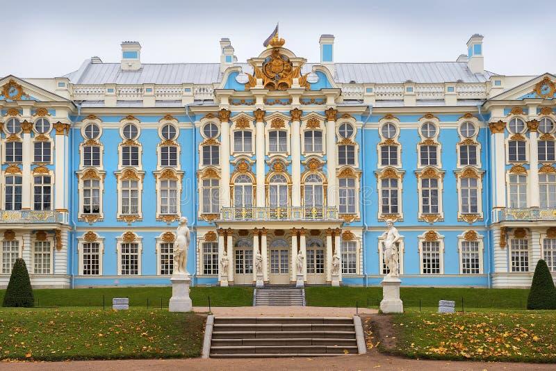 Catherine Palace i Tsarskoye Selo, St Petersburg, Ryssland royaltyfri foto