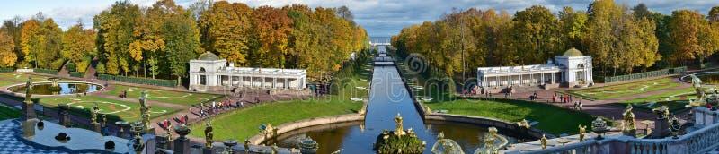 Catherine Palace, parc de St Petersbourg, grand images stock