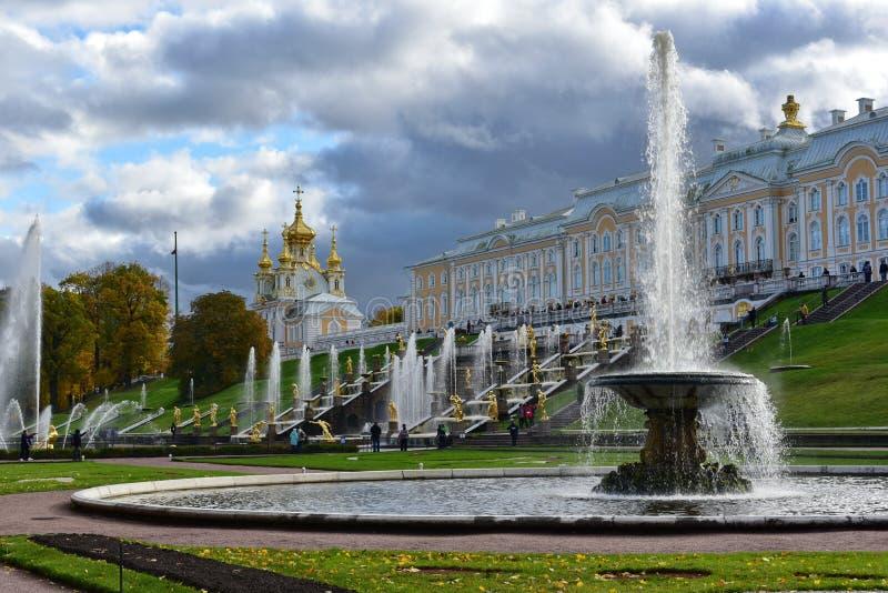 Catherine Palace, parque de St Petersburg, grande fotografía de archivo