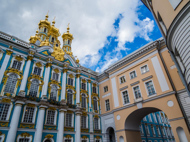 Catherine Palace In Pushkin, St Petersburg, Rusia fotos de archivo