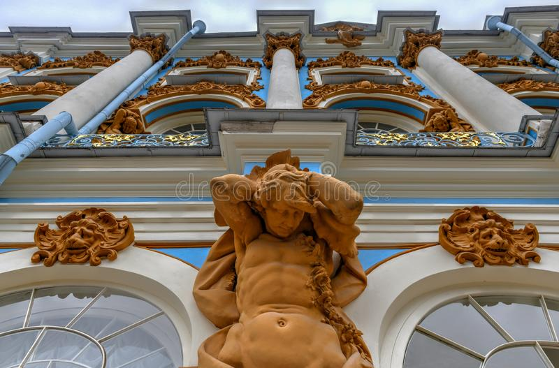 Catherine Palace - Pushkin, St Petersburg, Ryssland fotografering för bildbyråer