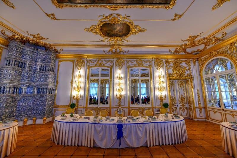 Catherine Palace - Pushkin, St Petersburg, Ryssland arkivbild