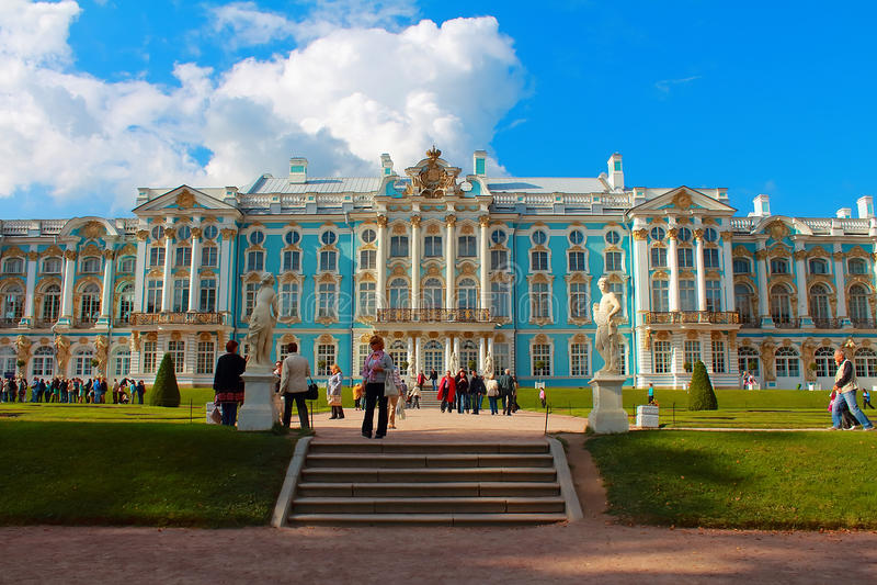 Catherine Palace. Rusland, Tsarskoye Selo, Catherine Park. stock fotografie