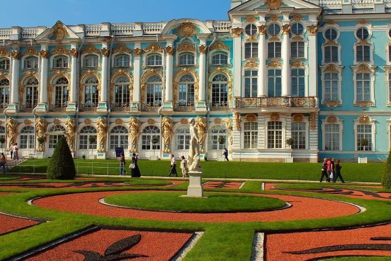 Catherine Palace. Rusland, Tsarskoye Selo, Catherine Park. stock afbeeldingen