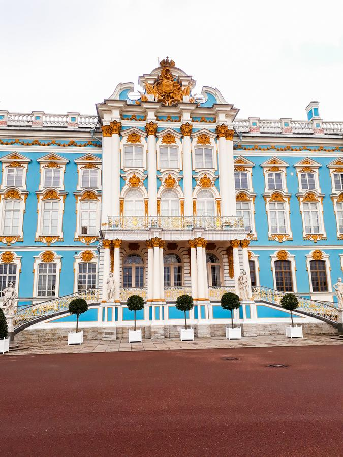 Catherine Palace In Russia-St. Petersburg in de Lente royalty-vrije stock afbeelding