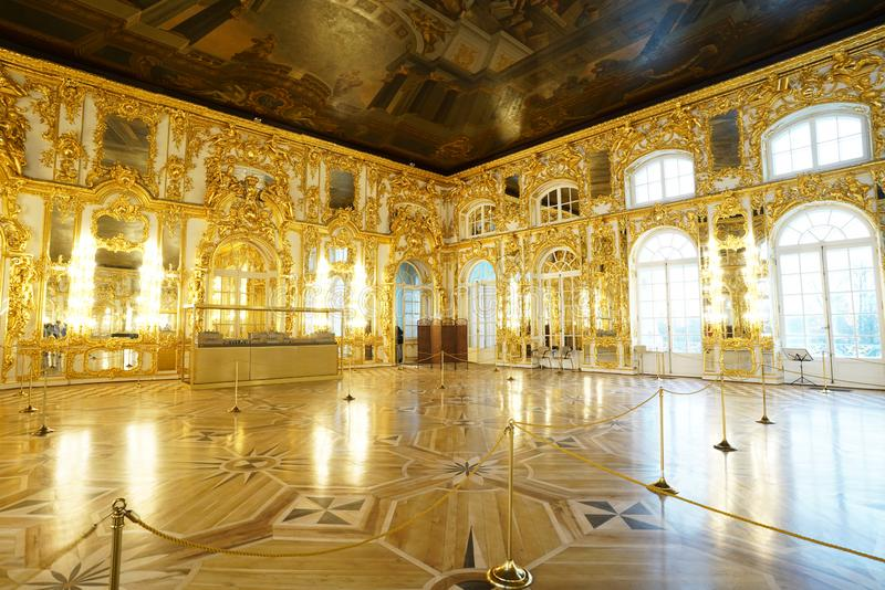 Catherine Palace St Petersburg, Rusland stock foto