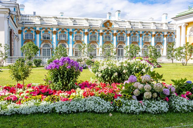 Catherine palace in Tsarskoe Selo Pushkin, Saint Petersburg, Russia stock photography
