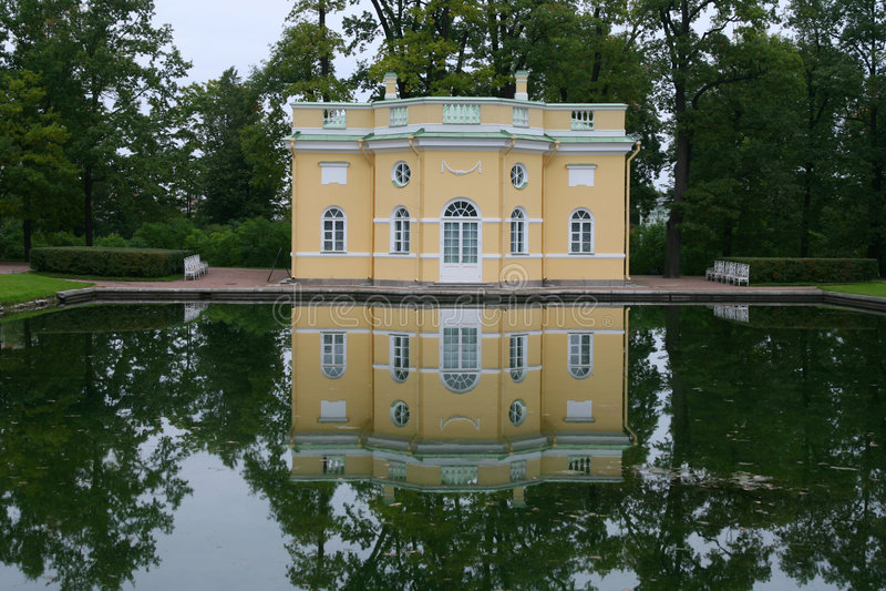 Catherine-Palast nahe St Petersburg lizenzfreies stockbild