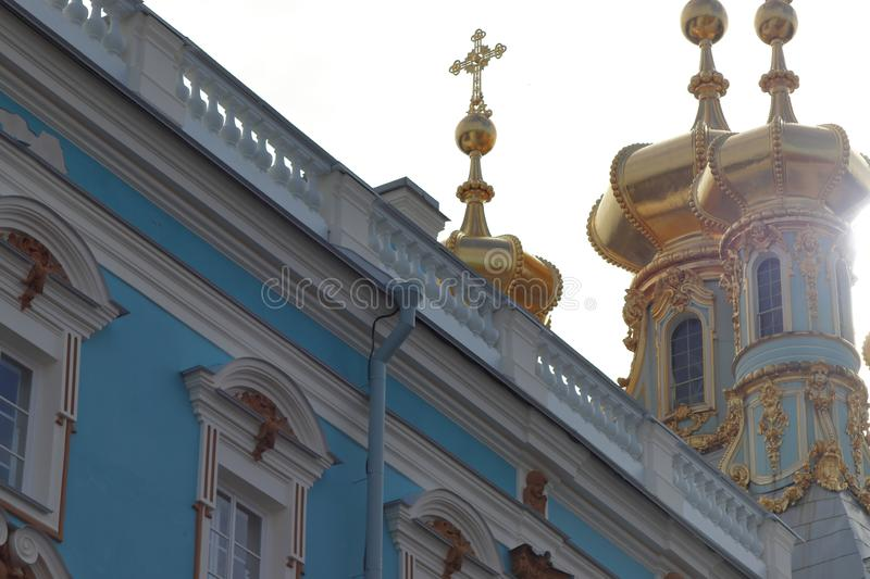 Catherine palast in st. petersburg in russia. royalty free stock photos