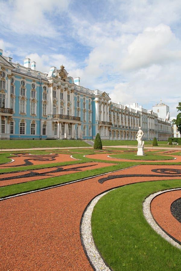 Catherine-Palast, Tsarskoye Selo (Pushkin) stockbilder