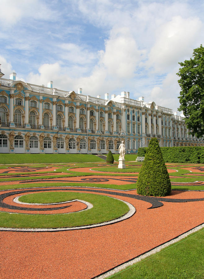 Catherine-Palast, Tsarskoye Selo (Pushkin), Russ stockbild