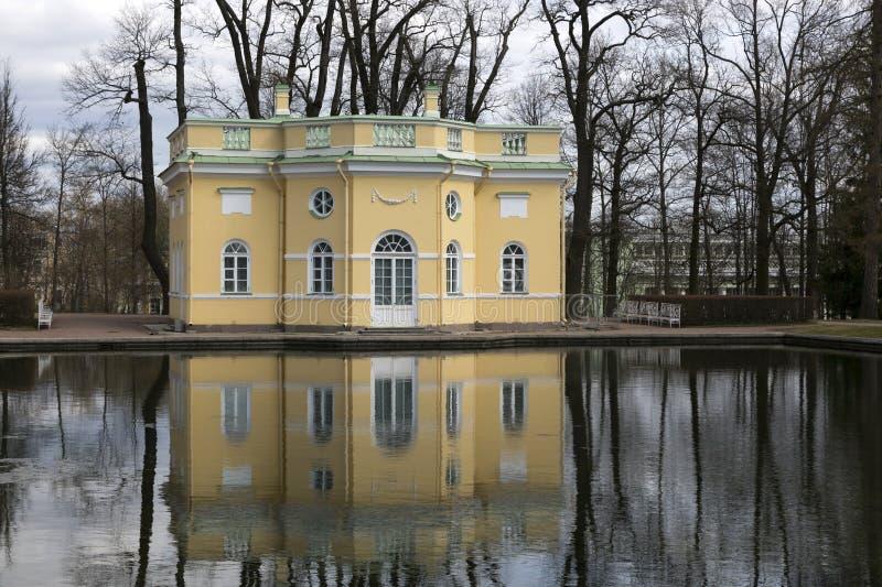 Catherine Park i staden av Pushkin royaltyfri foto
