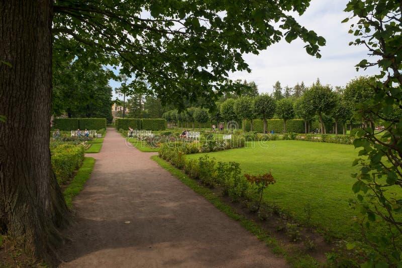 Catherine-Park im Tsarskoye Selo stockbild