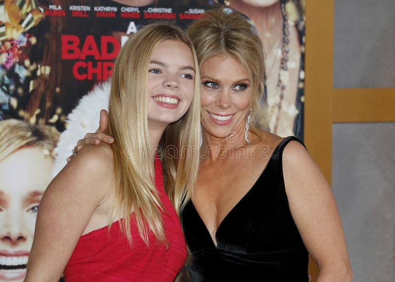 Catherine Rose Young e Cheryl Hines imagem de stock royalty free