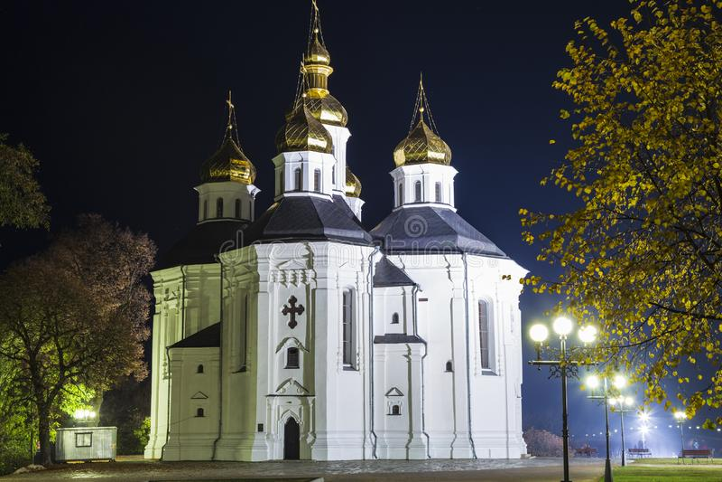 Catherine ` s kościół Chernihiv miasto Ukraina fotografia stock