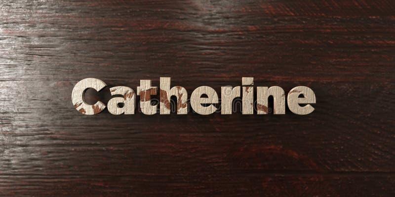 Catherine - titolo di legno grungy sull'acero - 3D ha reso l'immagine di riserva libera della sovranità illustrazione vettoriale