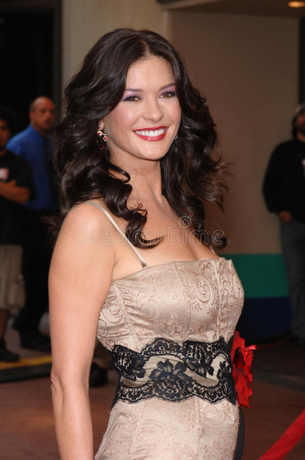 Catherine Zeta-Jones royalty-vrije stock fotografie