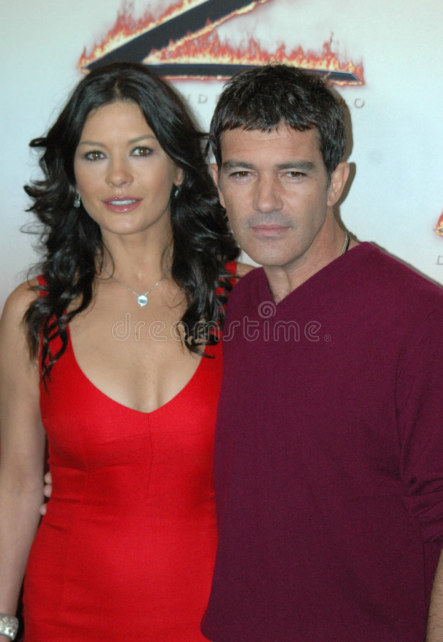 Catherine Zeta-Jones, Antonio Banderas royalty-vrije stock afbeelding