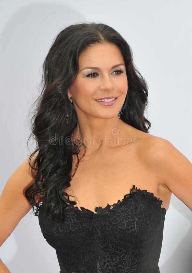Catherine Zeta-Jones. LOS ANGELES, CA - JULY 11, 2013: Catherine Zeta-Jones at the Los Angeles premiere of her new movie Red 2 at the Westwood Village Theatre royalty free stock image