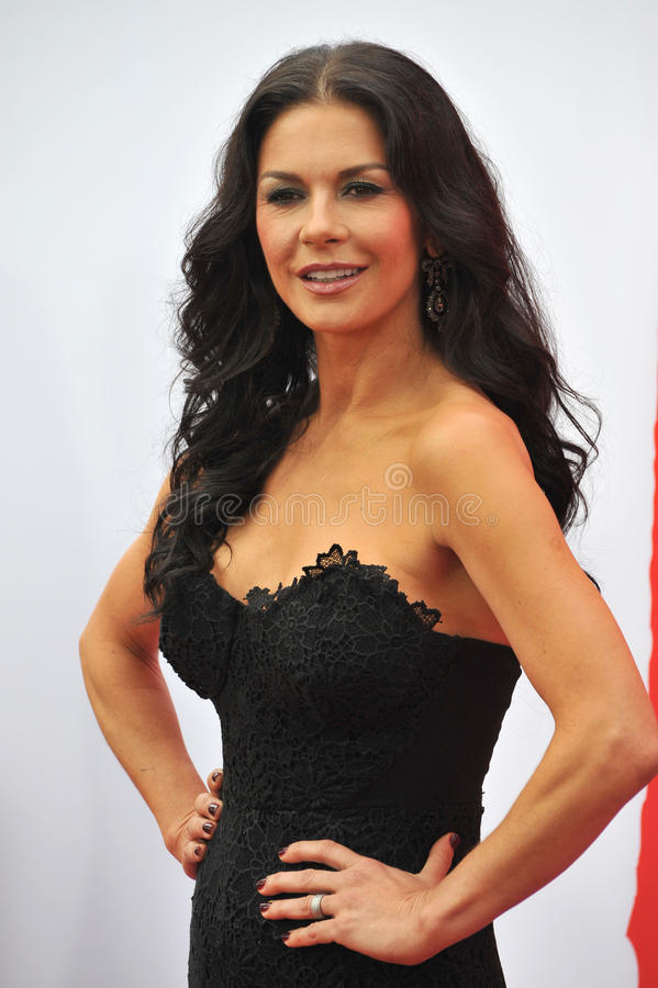 Catherine Zeta-Jones. LOS ANGELES, CA - JULY 11, 2013: Catherine Zeta-Jones at the Los Angeles premiere of her new movie Red 2 at the Westwood Village Theatre royalty free stock photography