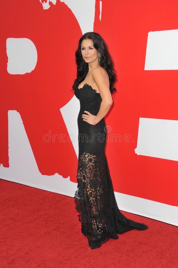 Catherine Zeta-Jones. LOS ANGELES, CA - JULY 11, 2013: Catherine Zeta-Jones at the Los Angeles premiere of her new movie Red 2 at the Westwood Village Theatre stock images
