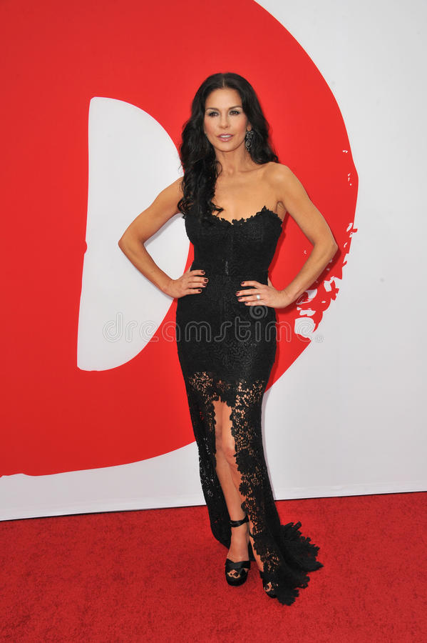 Catherine Zeta-Jones. LOS ANGELES, CA - JULY 11, 2013: Catherine Zeta-Jones at the Los Angeles premiere of her new movie Red 2 at the Westwood Village Theatre stock photography