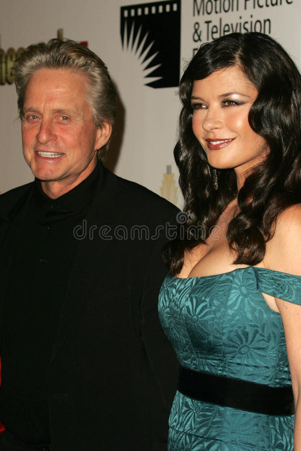 Catherine Zeta-Jones, Michael Douglas foto de archivo