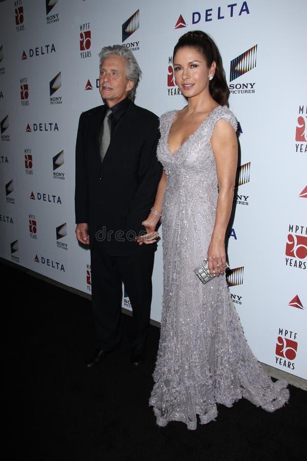 Catherine Zeta-Jones, Michael Douglas fotos de stock royalty free