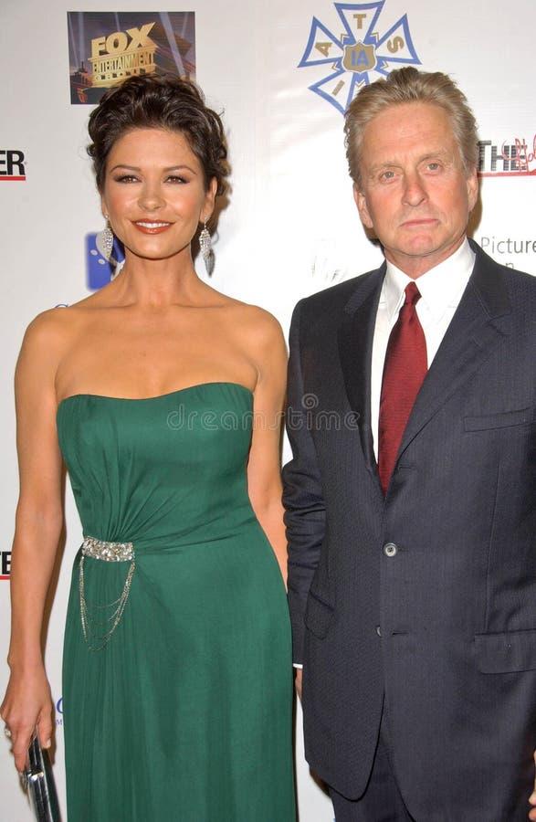 Catherine Zeta-Jones, Michael Douglas fotografia stock