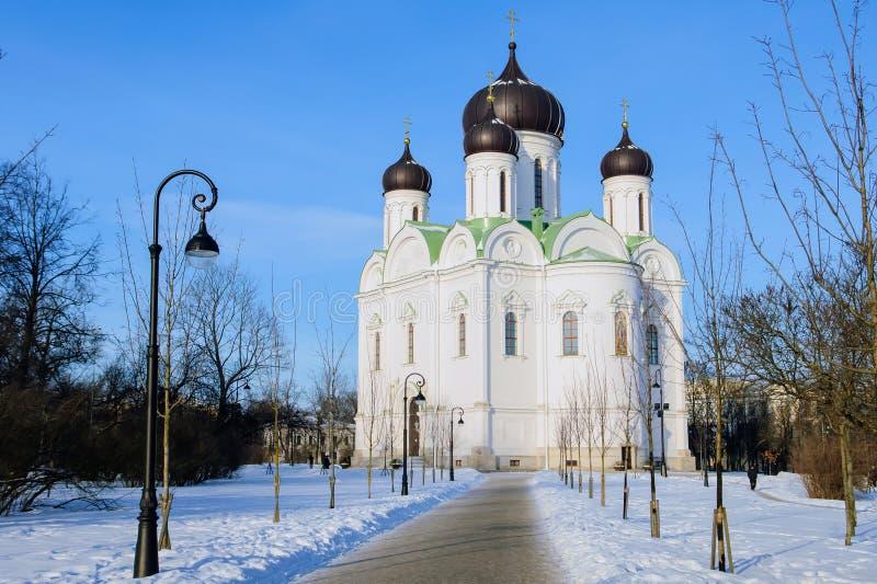 Catherines domkyrka, ortodox kyrka i Tsarskoye Selo royaltyfri foto