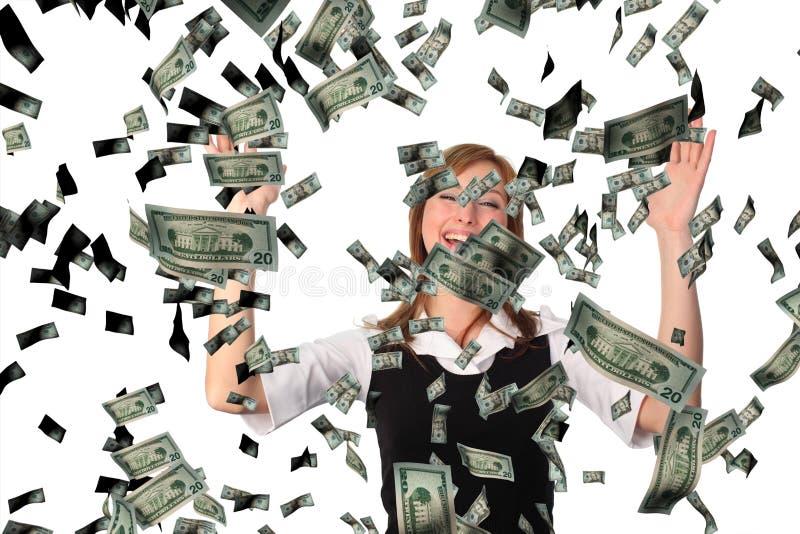 cathicng πτώση δολαρίων στοκ φωτογραφία