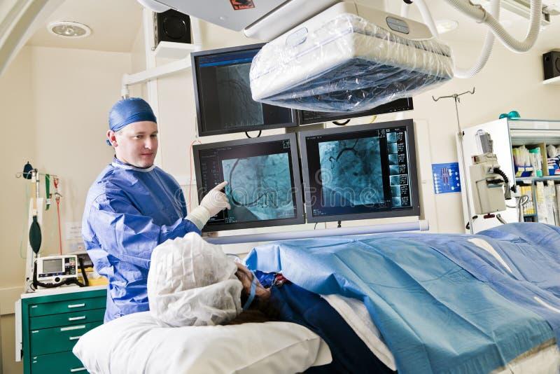 Cathlab在现代医院 库存图片