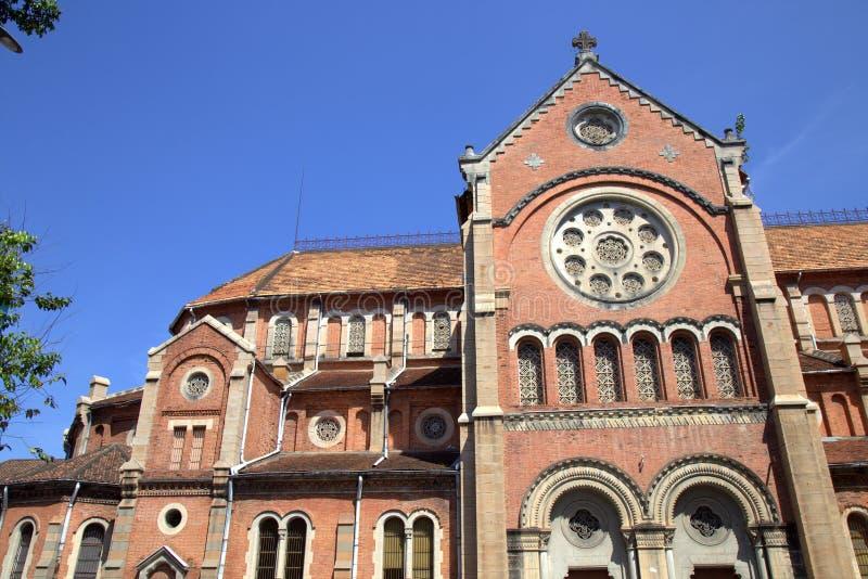 Catholic Basilica in Saigon royalty free stock photography