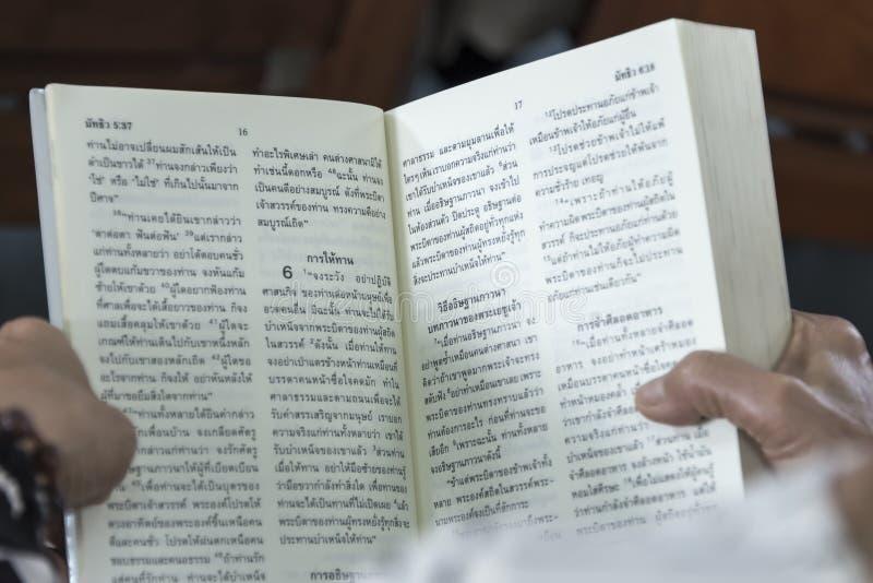 Catholic Bible Language Thai royalty free stock photography