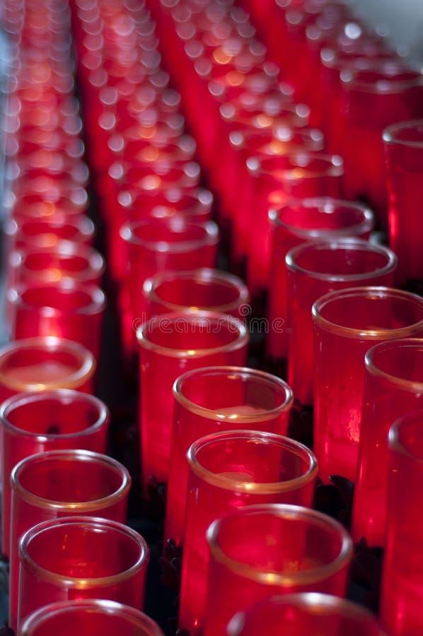 Catholic Candles Royalty Free Stock Images