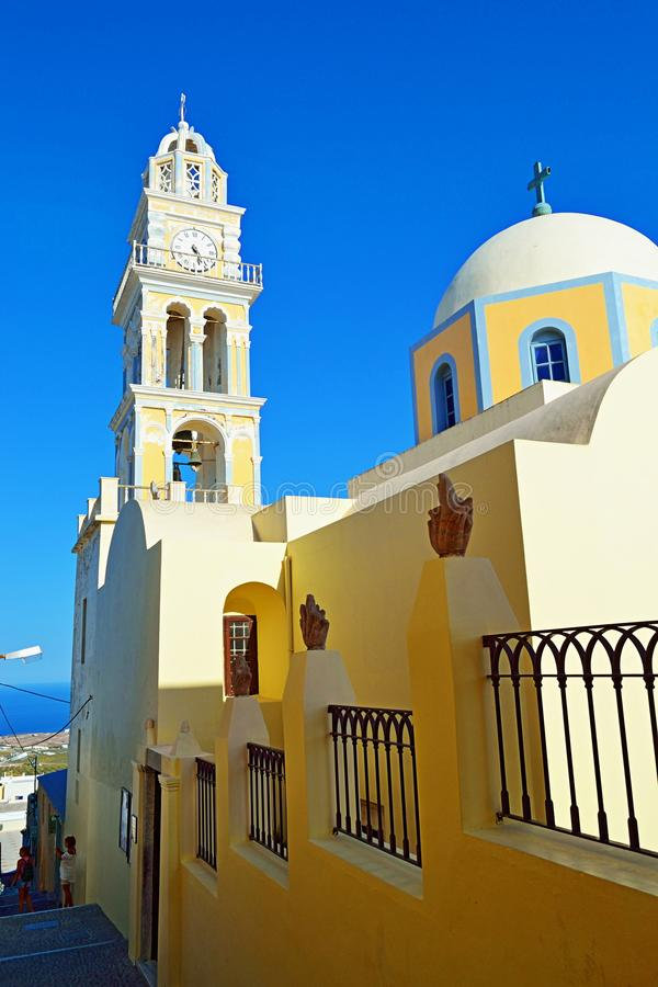 Catholic Cathedral church Santorini island Greece royalty free stock photos