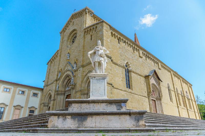 Catholic cathedral in the city of Arezzo Italy royalty free stock photos