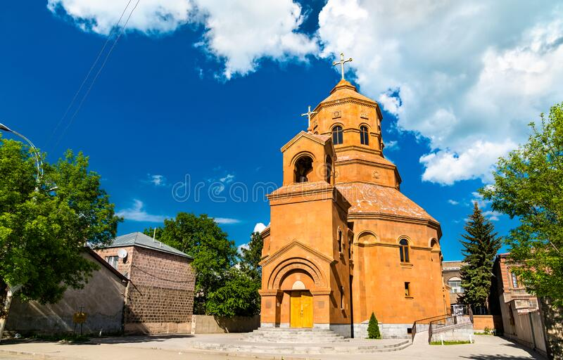 Cathedral of the Holy Martyrs in Gyumri, Armenia. Catholic Cathedral of the Holy Martyrs in Gyumri, Armenia stock photos