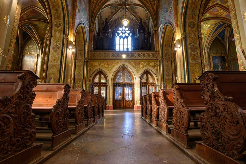 Catholic Cathedral inside. Peter and Paul Cathedral, Prague royalty free stock photography