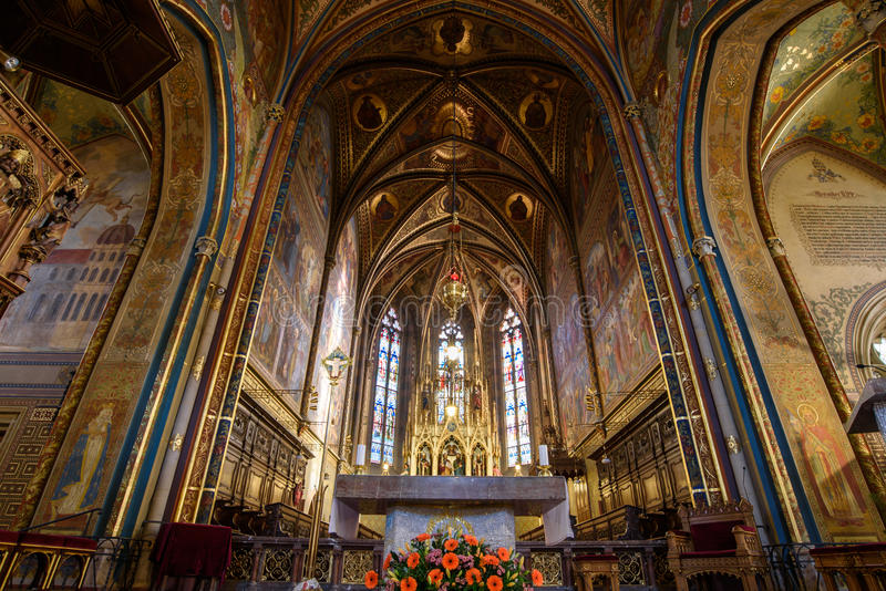 Catholic Cathedral inside. Peter and Paul Cathedral, Prague stock images