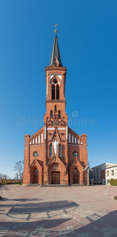 Free Catholic Cathedral On The Pastavy Town. Stock Photo - 51774610