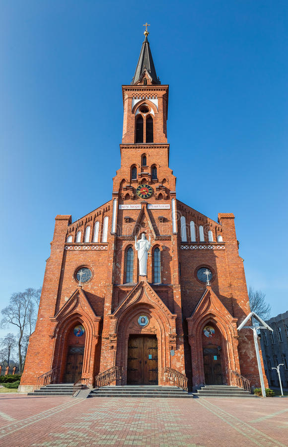 Free Catholic Cathedral On The Pastavy Town. Royalty Free Stock Photography - 51780787