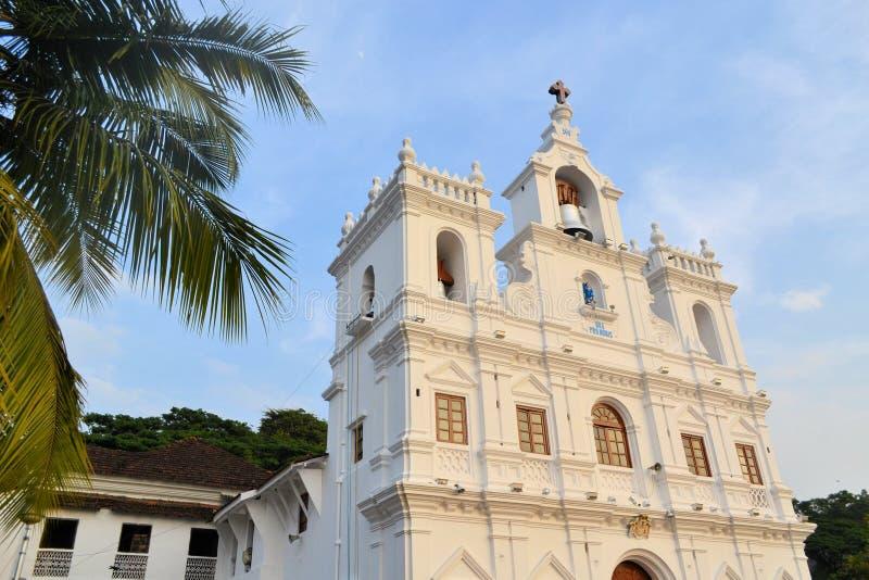Catholic Christian Village Church, Goa, India. Catholic Christian Village St. Anthony's Church - Siolim, Goa, India royalty free stock photo