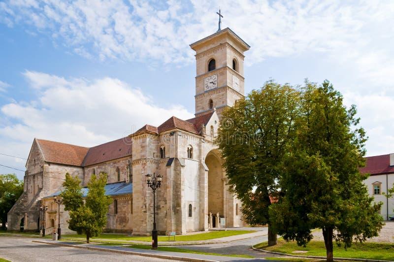 Catholic church in Alba Iulia. Catholic church in the center of Alba Iulia, Transylvania, Romania stock photo