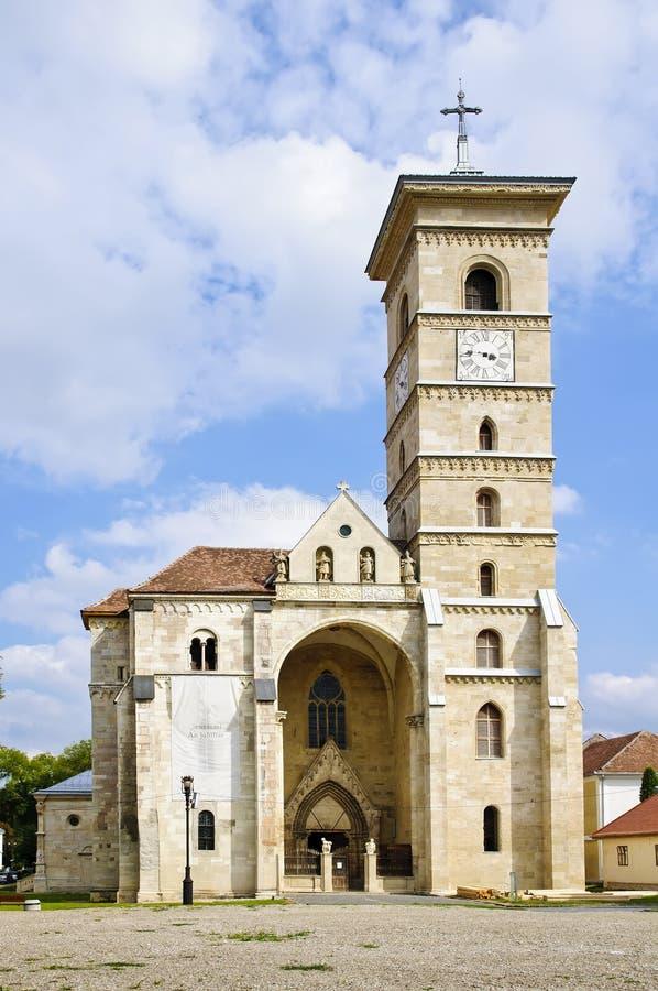 Catholic church in Alba Iulia. Catholic church in the center of Alba Iulia, Transylvania, Romania stock images