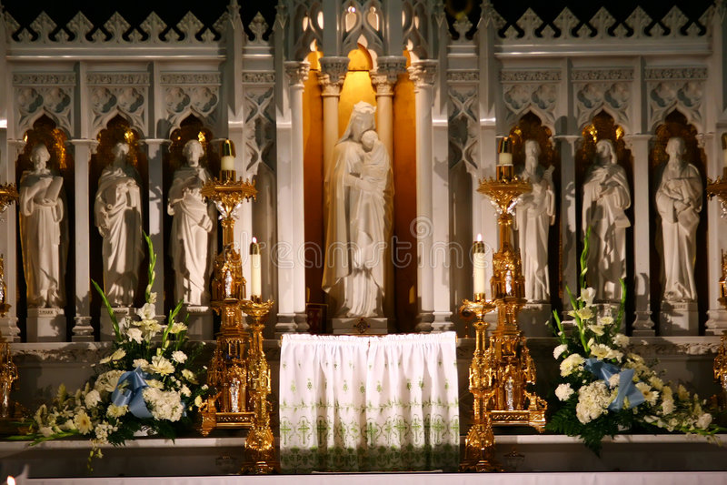 Catholic Church Altar stock images